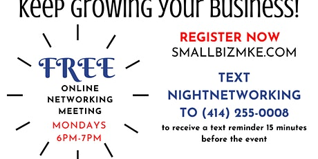 Smallbizmke Think Tank!  - Small Business Owners Networking Event! Mondays tickets