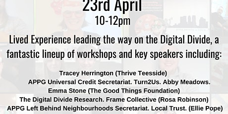 Webinar. Solving the Digital Divide with Lived Experience tickets