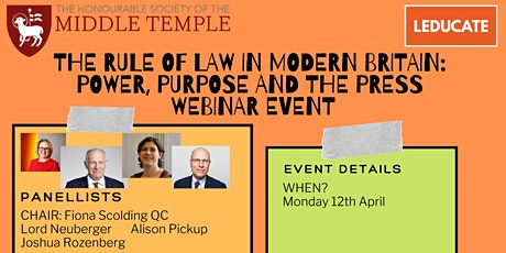 The Rule of Law in Modern Britain: Power, Purpose and the Press tickets