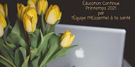 Éducation continue - Printemps 2021 billets