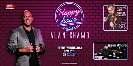 Virtual Happy Hour with Alan Chamo  | featuring Violinist Armando Anto tickets