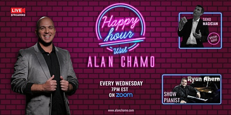 Virtual Happy Hour with Alan Chamo  | featuring Magician Sieko tickets