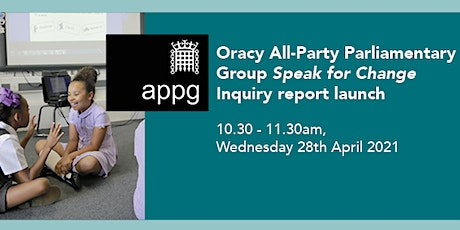 Oracy All-Party Parliamentary Group report launch tickets