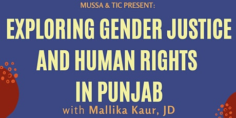 Exploring Gender Justice and Human Rights in Punjab tickets