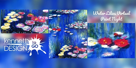 Virtual Paint Night - Water Lilies tickets