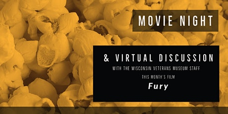 Movie Night Virtual Discussion - Fury (2014) tickets