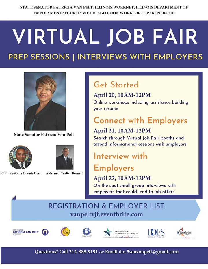 State Senator Patricia Van Pelt Virtual Job Fair image