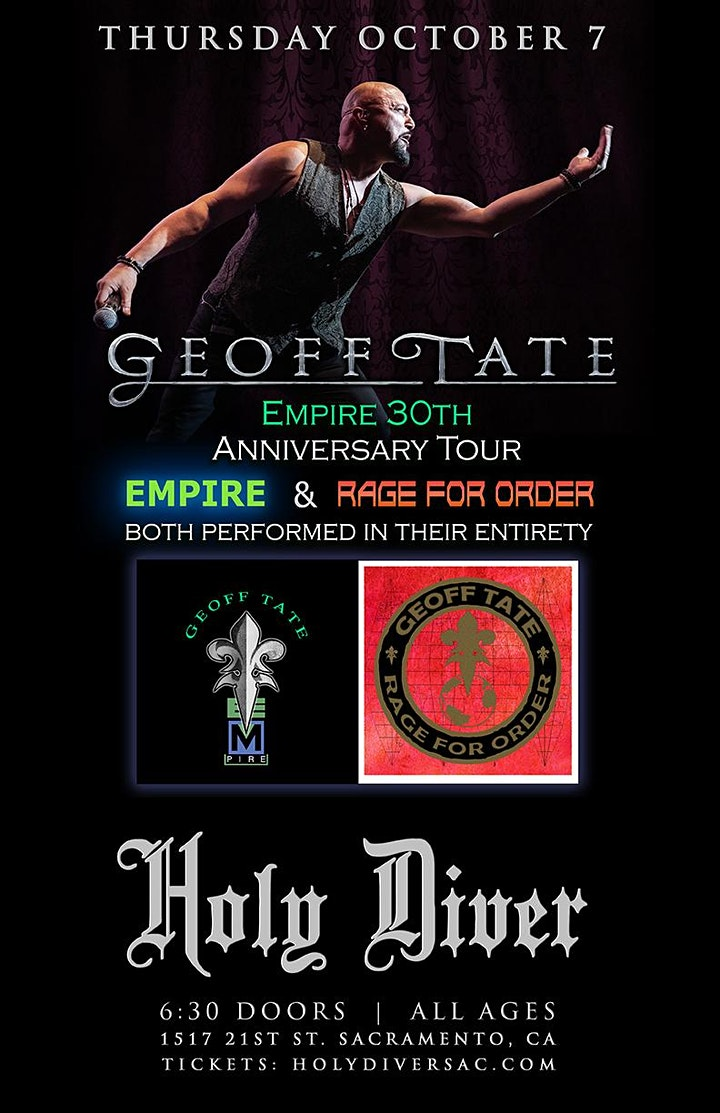 Geoff Tate 30th Anniversary of Empire and Rage for Order image