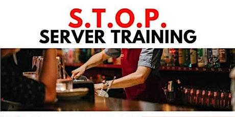 S.T.O.P.  Server Training tickets