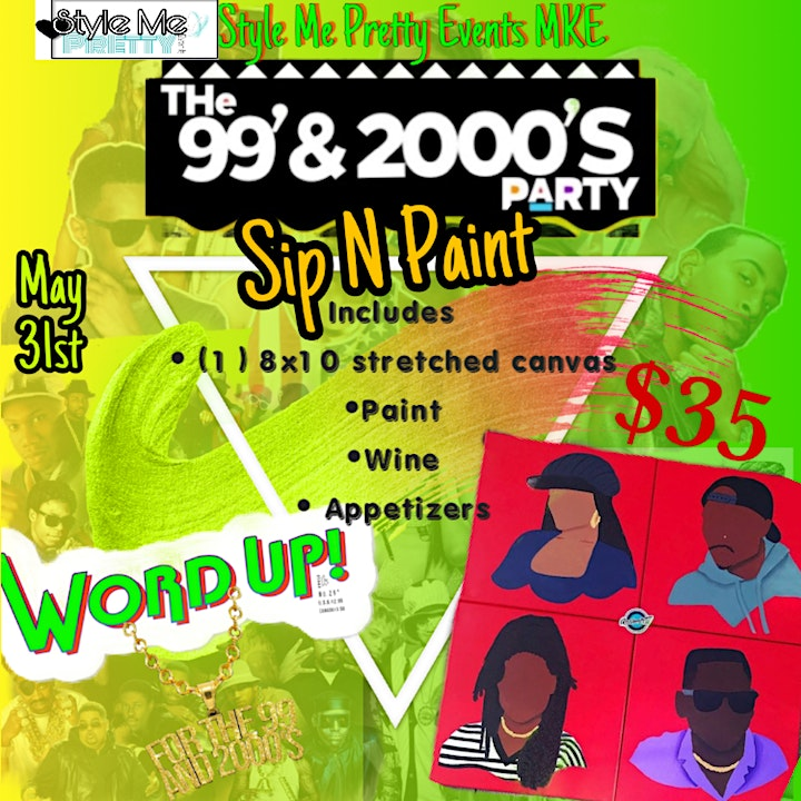 Style Me Pretty: For the 99 and the 2000's Sip N Paint Day Party image