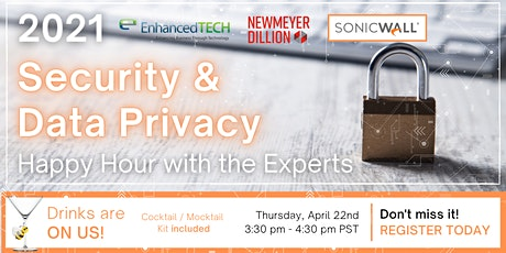 2021 Security & Data Privacy : Happy Hour with the Experts tickets