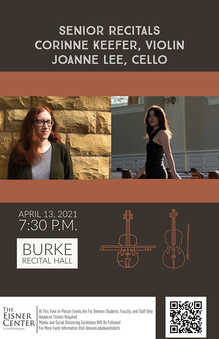 Senior Recital, Corinne Keefer on violin and Joanne Lee on cello image