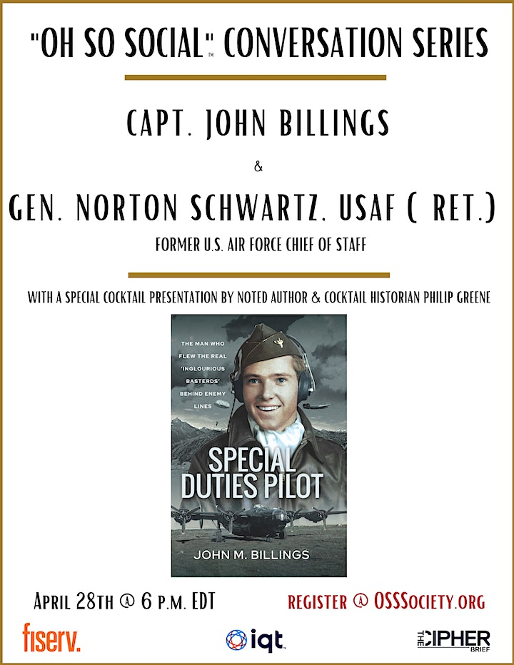 """Oh So Social"" Conversation: Capt. John Billings and Gen. Norton Schwartz image"