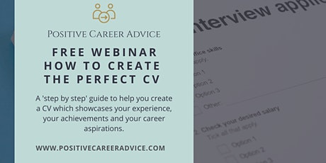 How to create the perfect CV - Positive Career Advice with Tate Recruitment tickets