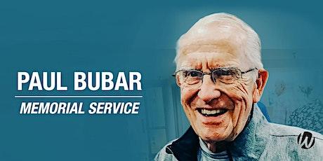 Paul Bubar  Memorial Service tickets