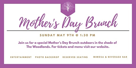 Mother's Day at The Woodlands (afternoon seating) tickets