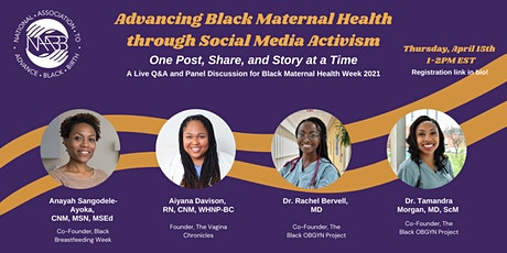 Advancing Black Maternal Health through Social Media Activism tickets