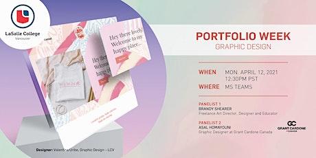 LaSalle College Vancouver   Portfolio Week: Graphic Design biglietti