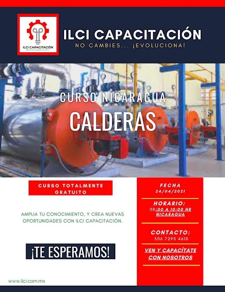 """Imagen de Curso Gratuito Nicaragua """"Calderas"""""""