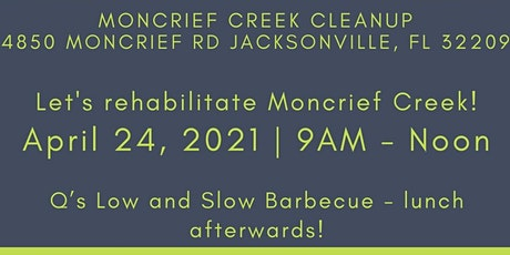Moncrief Creek Clean up with St. Johns RiverKeeper tickets