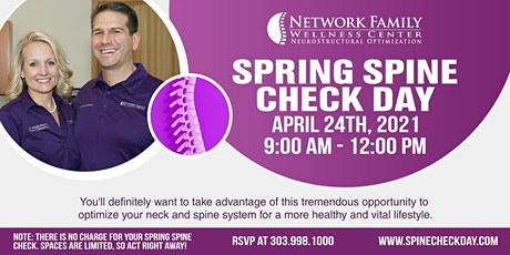 Spring Spine Check Day tickets