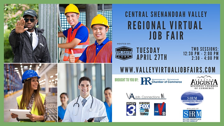 Central Shenandoah Valley REGIONAL Virtual Job Fair (EMPLOYERS ONLY) image
