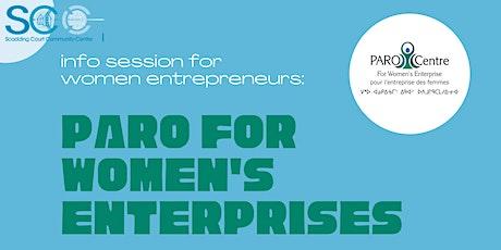 Info Session- PARO for Women's Enterprises boletos