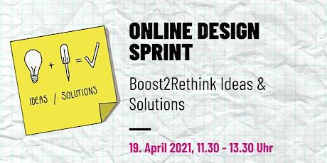 Online Design Sprint - lerne, wie Innovation remote getrieben wird. Tickets