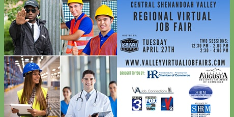 Central Shenandoah Valley REGIONAL Virtual Job Fair (JOB SEEKERS) tickets
