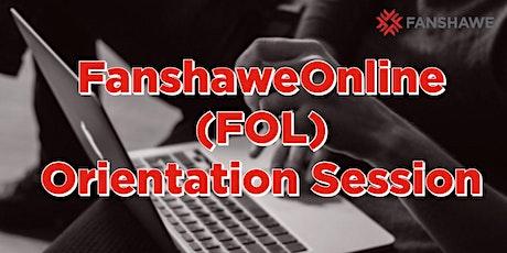 Summer 2021 FanshaweOnline (FOL) Orientation Session tickets