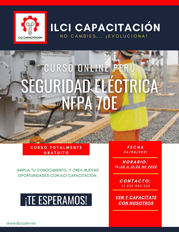 "Imagen de Curso Gratuito Perú ""NFPA 70E"""
