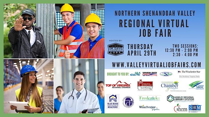 Northern Shenandoah Valley REGIONAL Virtual Job Fair - (Job Seekers) image