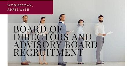 Nonprofit Board of Directors and Advisory Board Recruitment tickets