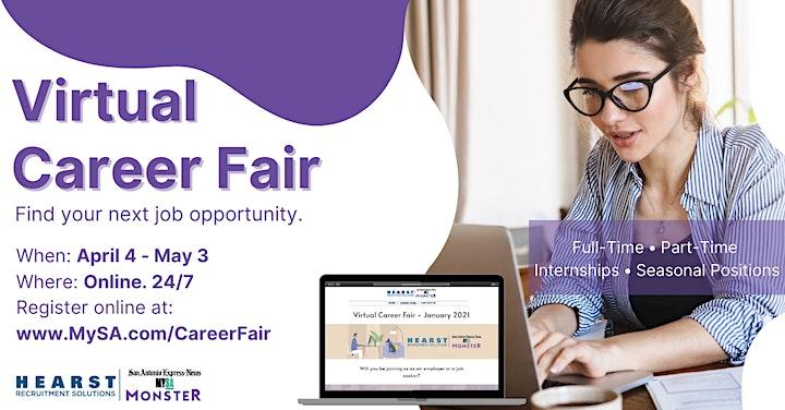 San Antonio Virtual Career Fair - More dates added! image