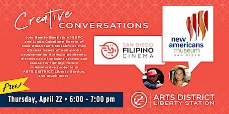 ARTS DISTRICT Creative Conversation w/ Benito Bautista &  Linda C. Sotelo tickets