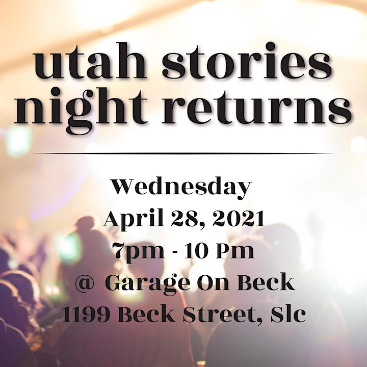 Utah Stories Night at Garage on Beck image