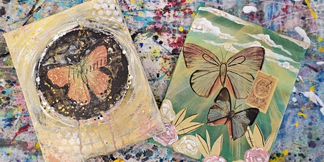 4/30 $25 Butterfly Academy Mixed Media Workshop @ Paint Like ME Studio tickets