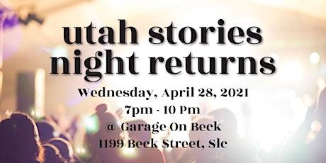 Utah Stories Night at Garage on Beck tickets