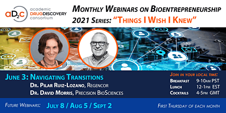 "ADDC Webinar Series on Bioentrepreneurship: ""Navigating Transitions"" tickets"