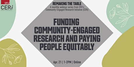 Funding Community-Engaged Research and Paying People Equitably tickets