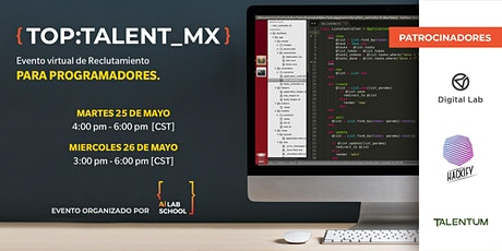 {TOP:Talent_MX}  Evento virtual de Reclutamiento para Programadores bilhetes