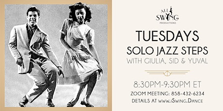 Solo Jazz Steps Dance Class on Zoom tickets