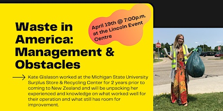 Waste in America: Management & Obstacles tickets