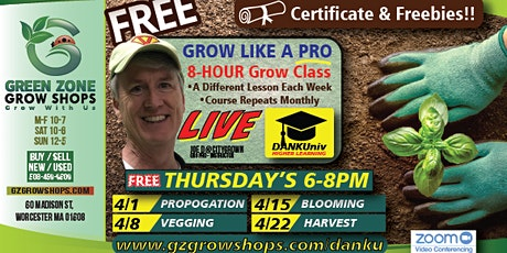 Copy of Grow Like a Pro **Harvest/Cure** FREE Workshops! bilhetes