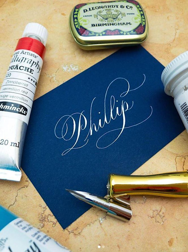 Introduction to Copperplate Flourishing - Online ZOOM Class image