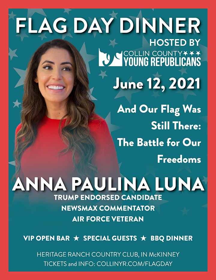 Collin County Young Republicans BBQ featuring Anna Paulina Luna image