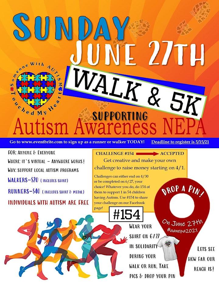 Autism Awareness NEPA  Virtual Walk and 5K image