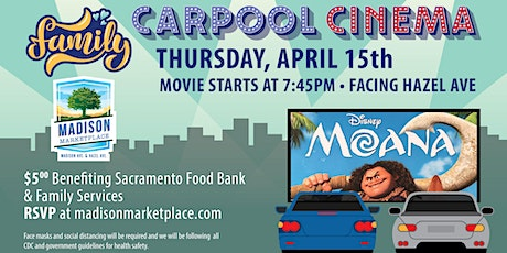 Drive-In Movie at Madison Marketplace- MOANA! tickets