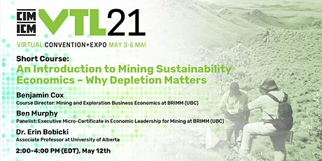 An Introduction to Mining Sustainability Economics – Why Depletion Matters tickets