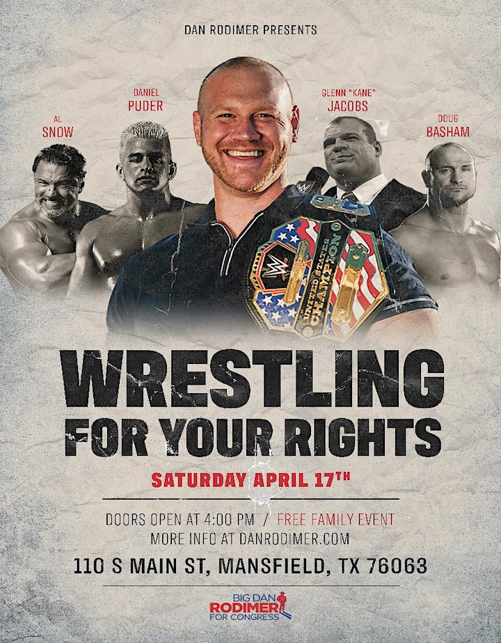 Wrestle For Your Rights a Free Family Event image